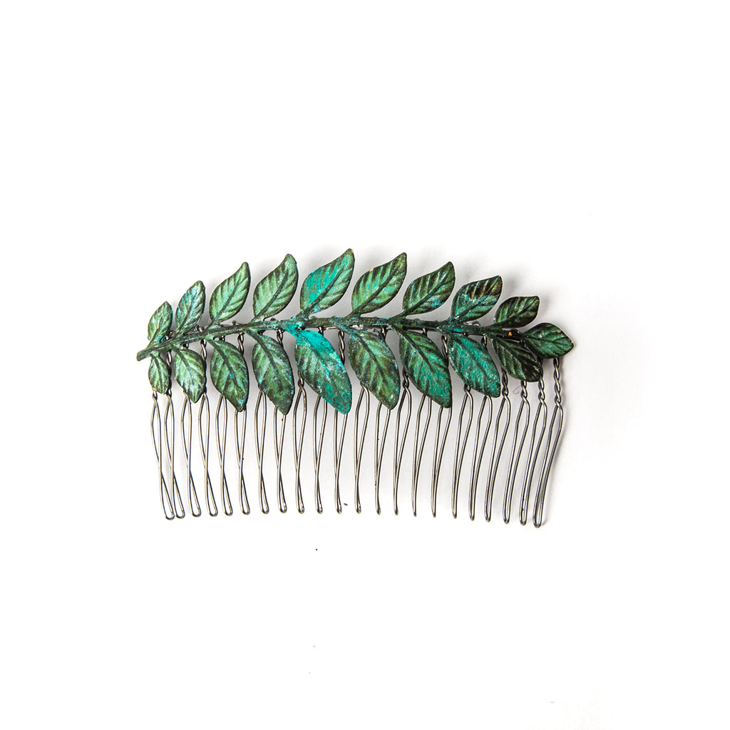 """Large Leaf"" Hair Comb"