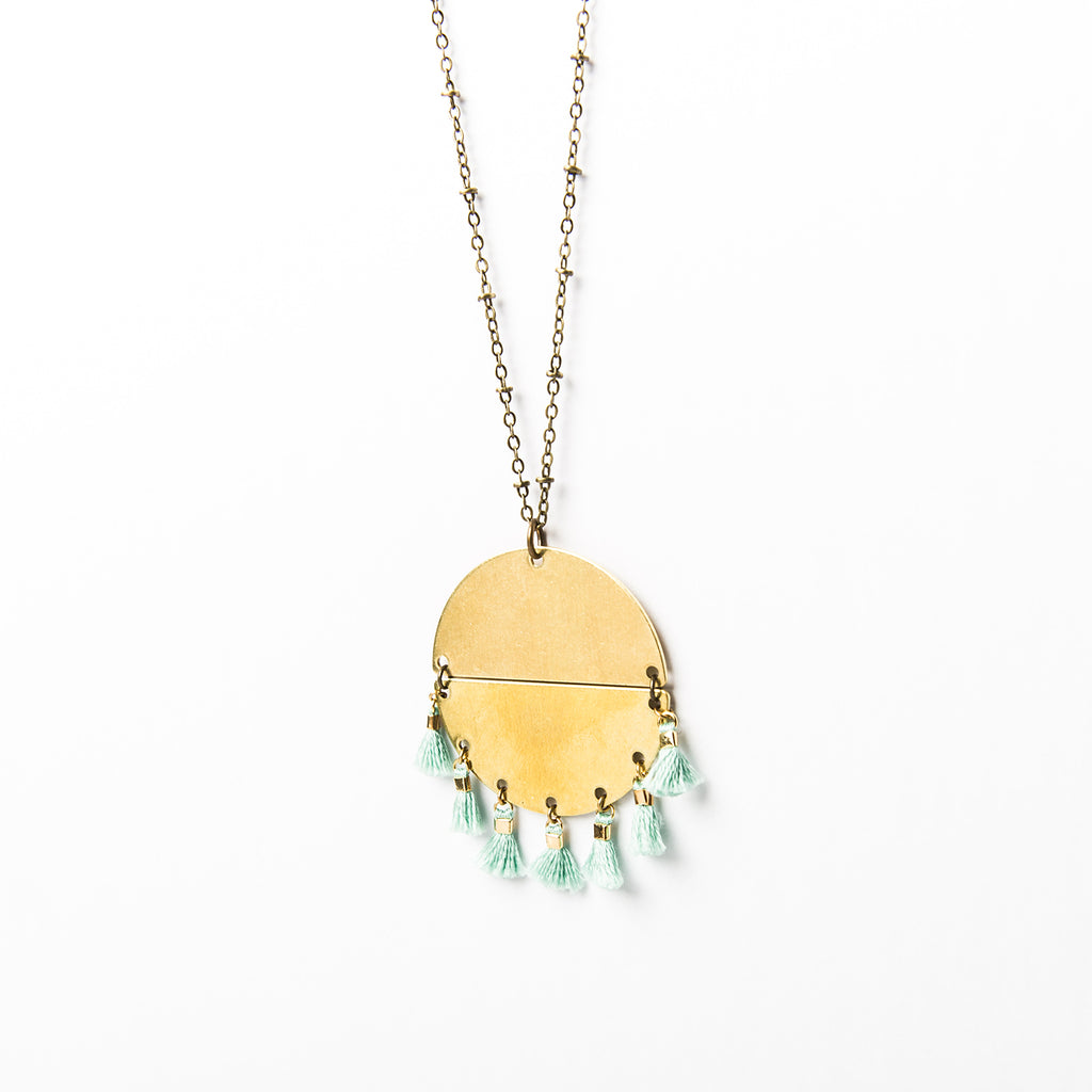 """Sun Down"" Multi-Tassel Necklace"