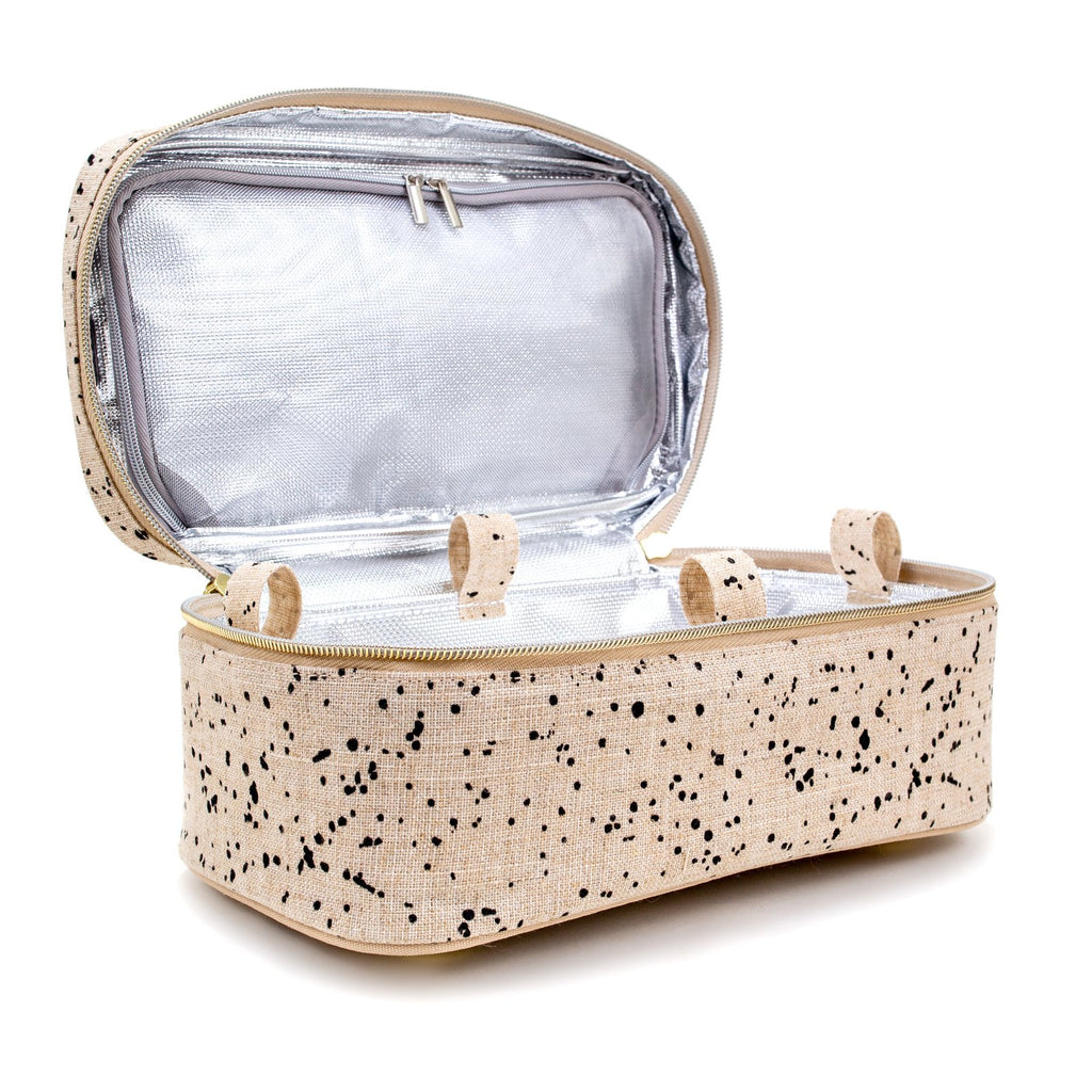 Beauty Poche - LARGE - Linen Splatter