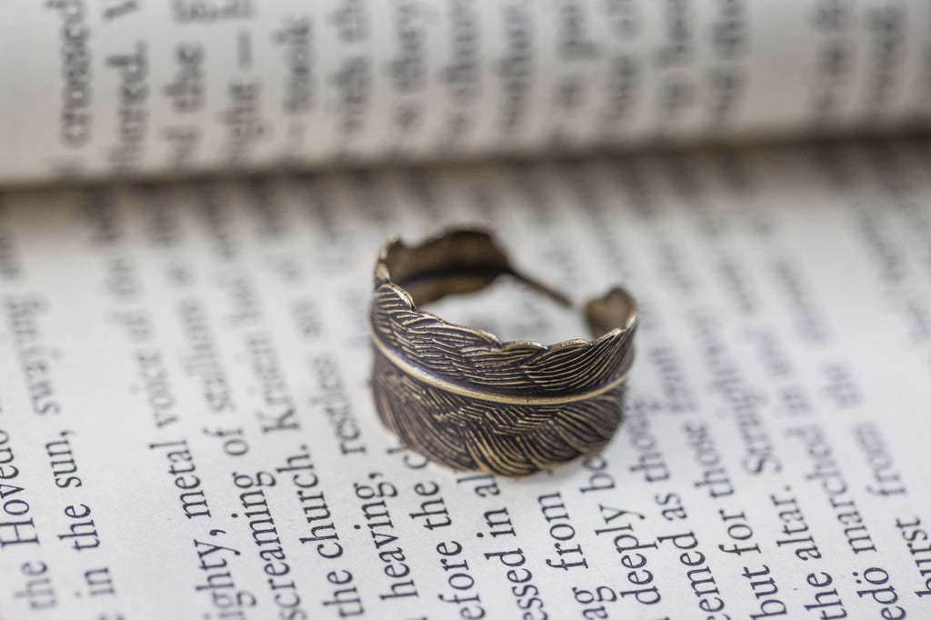 """Feather Wrap"" Rings"