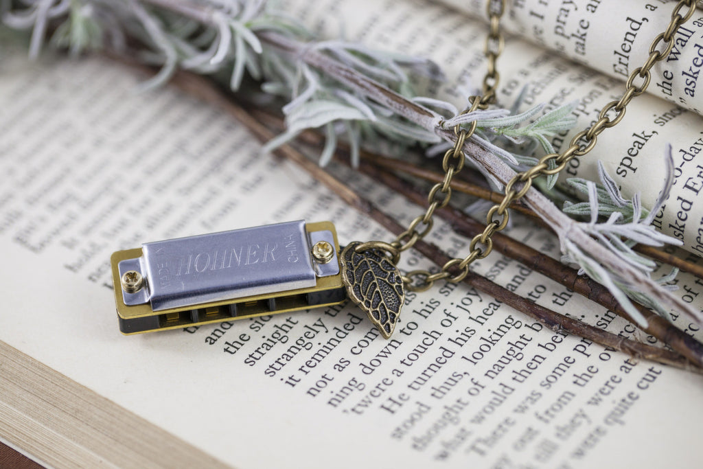 """Sage Harp"" Harmonica Necklace"