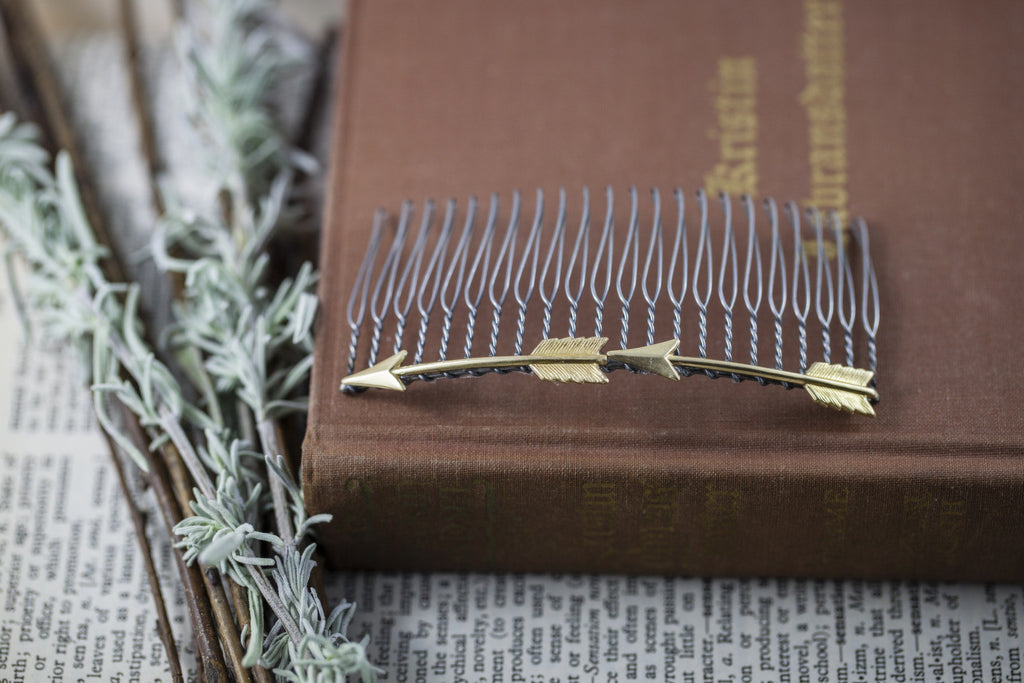 """Double Arrow"" Hair Comb"