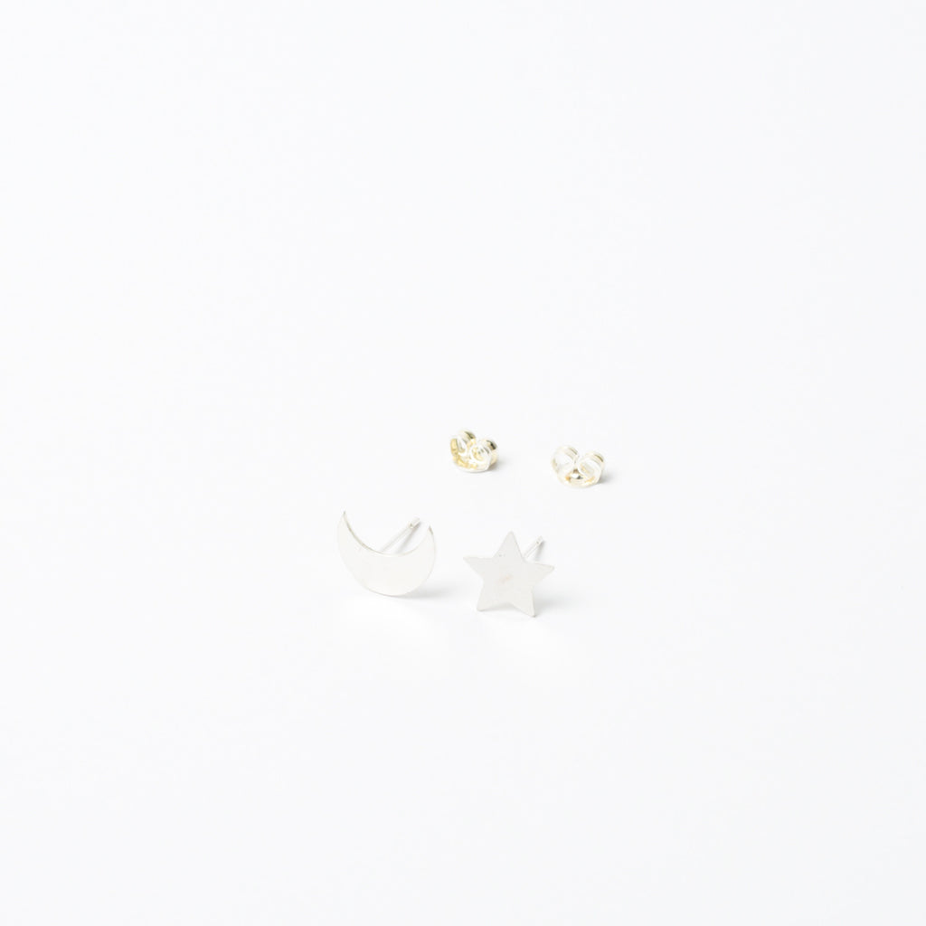 """Starry Night"" Mismatched Stud Earrings"