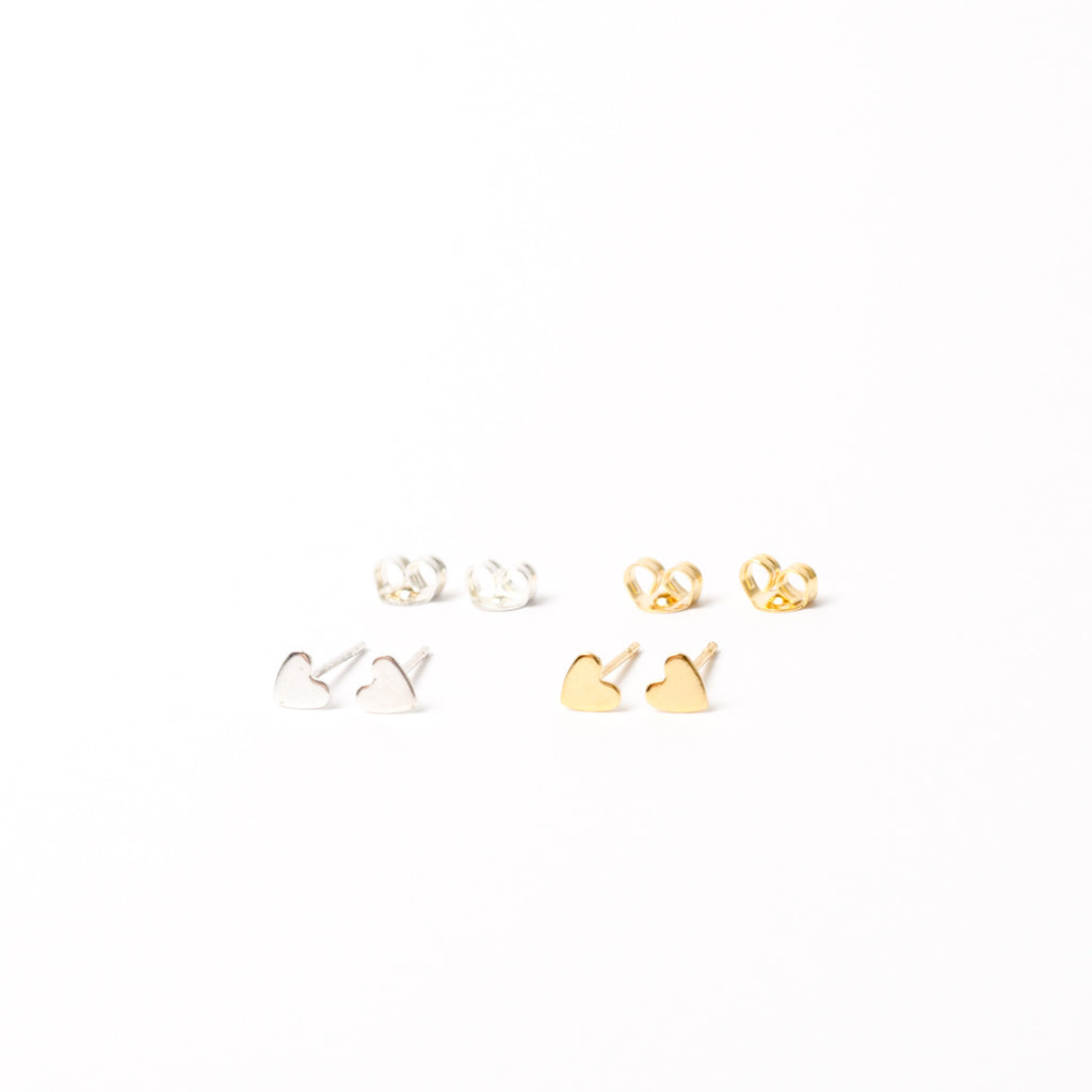 """Teeny Heart"" Stud Earrings (2-pack)"