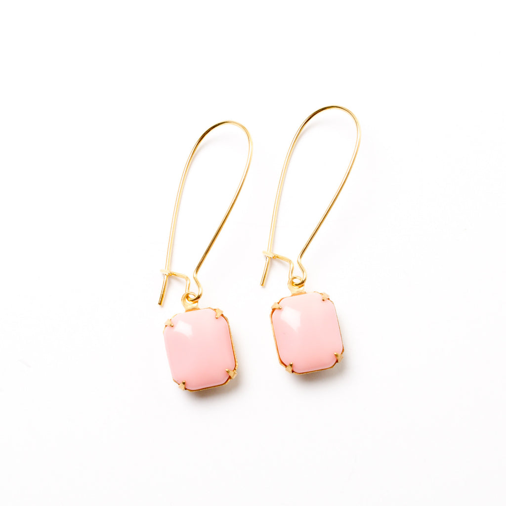 """Pink Drop"" Earrings"