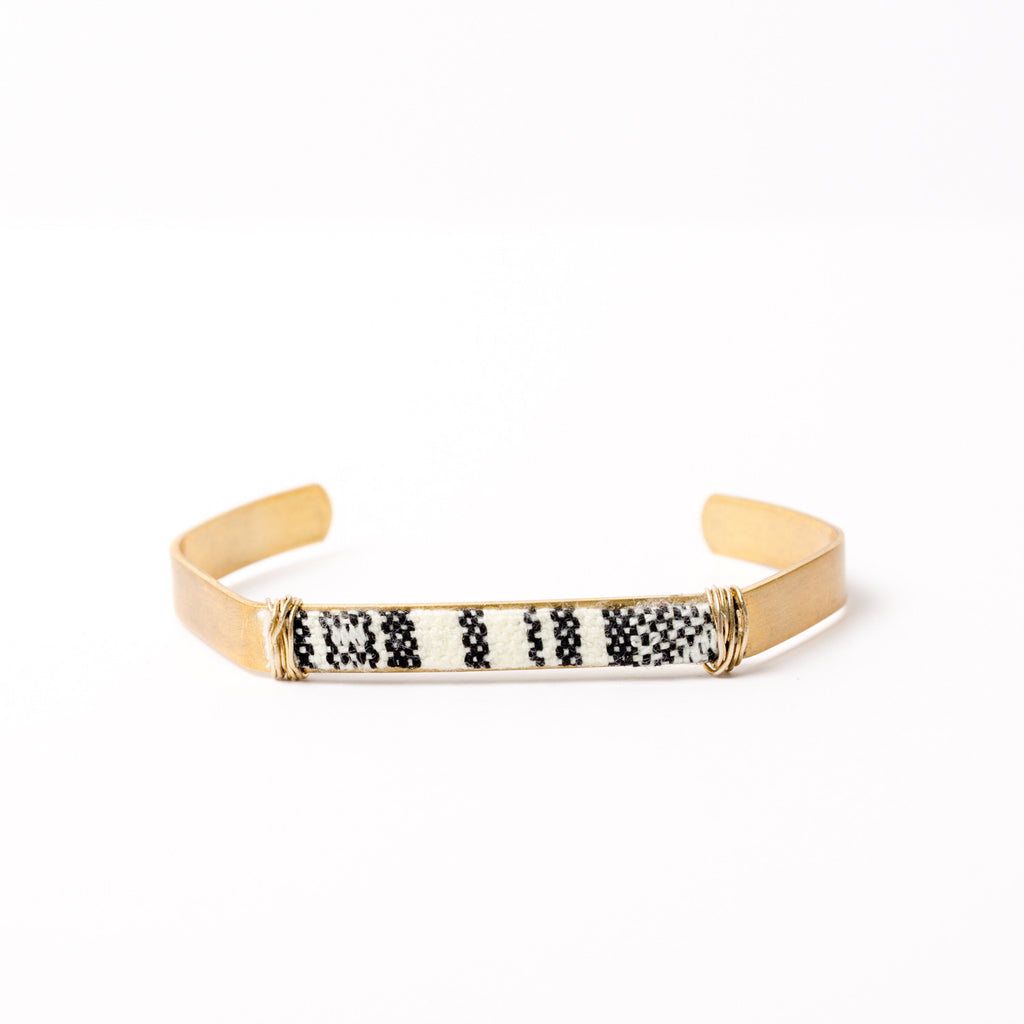 """Stripe City"" Cuff Bracelet"
