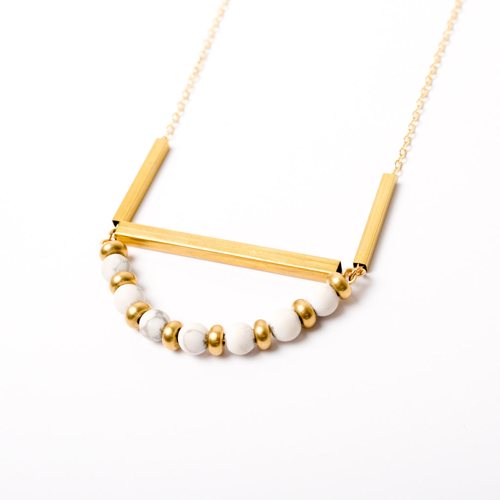"""Marble Arch"" Howlite Necklace"