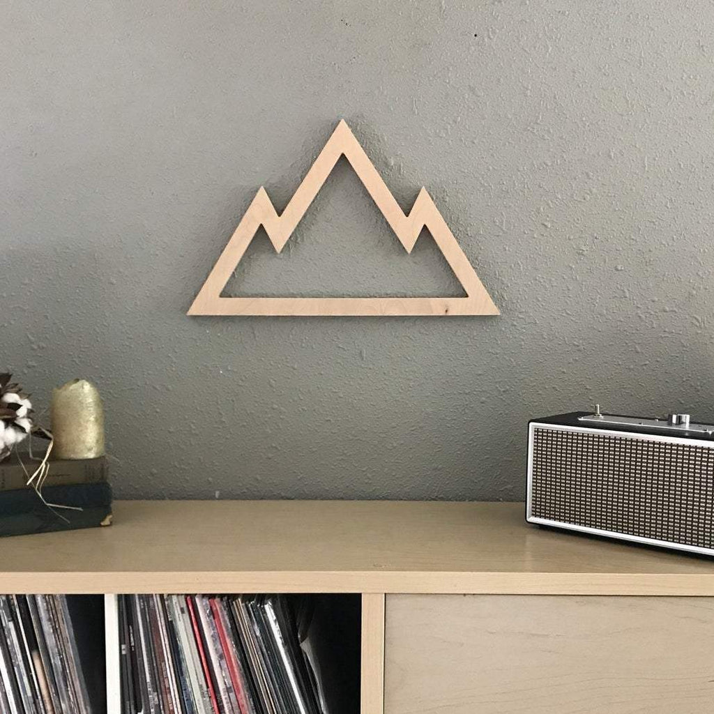 Wooden Mountain Silhouette (stained wood)