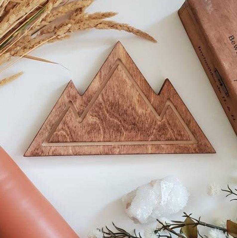 Wooden Mountain Solid (stained wood)