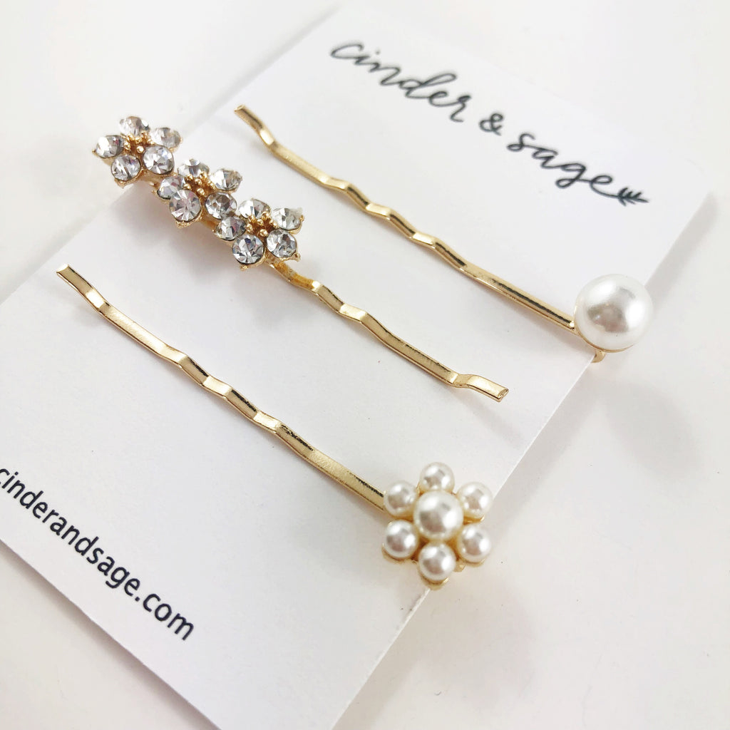 """Big Day"" Bobby Pins (set)"