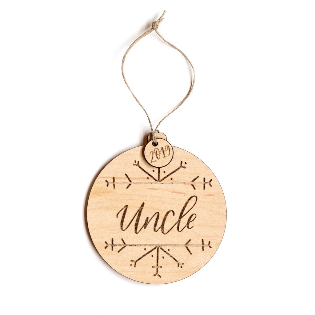 """Uncle"" Wooden Ornament (2020)"