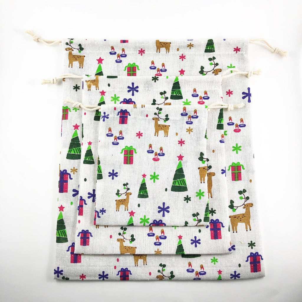 Reusable Gift Bags / Pouches (set of 3)