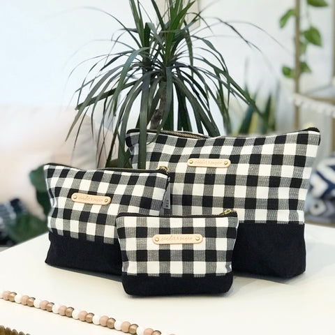 Carry-All Pouches - Black / Buffalo Plaid