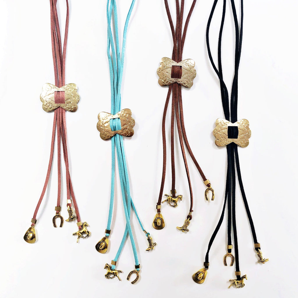 """Giddy Up"" Bolo Necklaces"