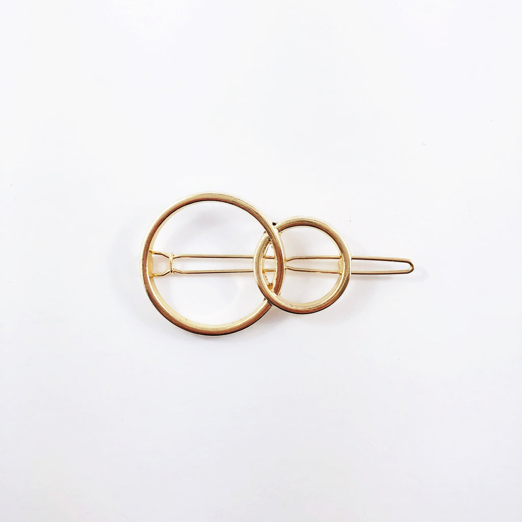 """Sunday"" Hair Clips - Double Circle"