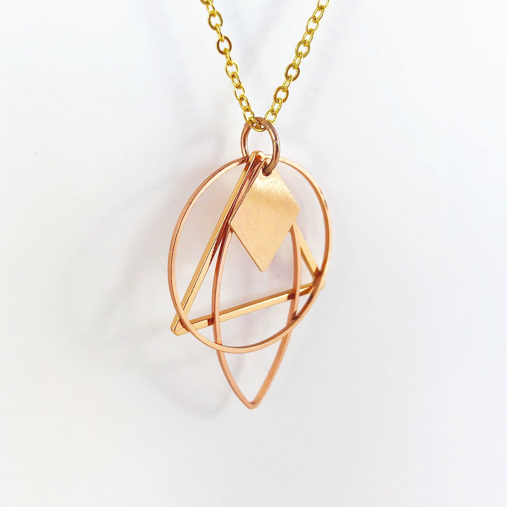 """Shape Shifter: Part 4"" Necklace  (Rose Gold!)"