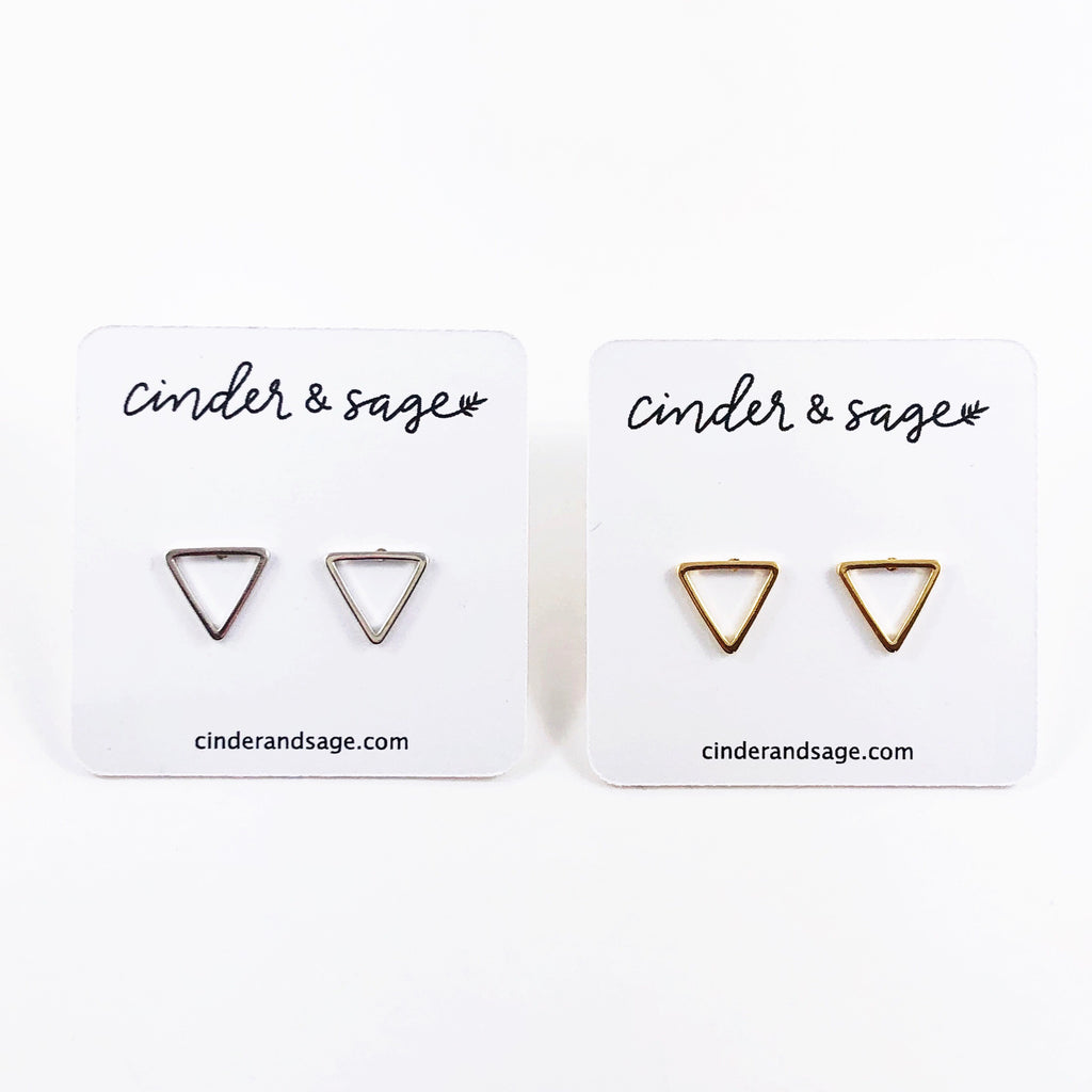 """3 Point"" Triangle Studs"