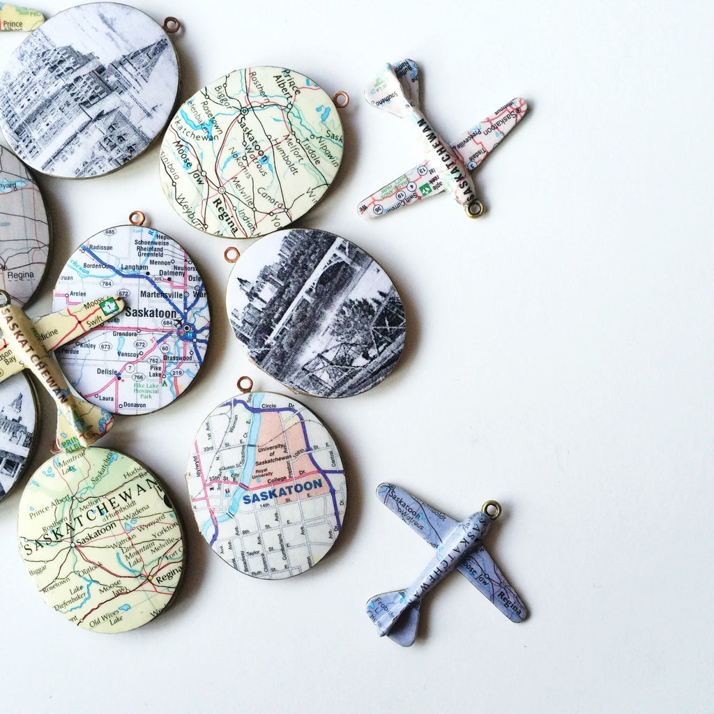 Custom Map Locket Necklace