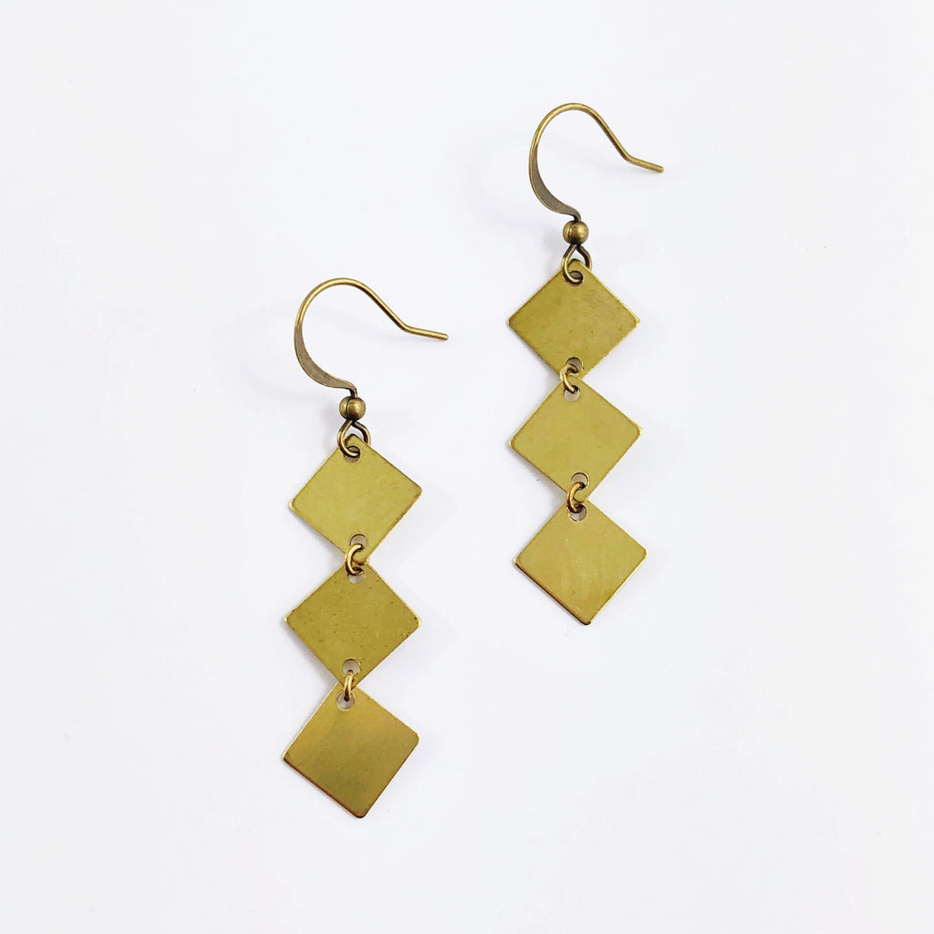 """Diamond Mine"" Earrings"