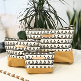 Carry-All Pouches - Yellow / Triangles