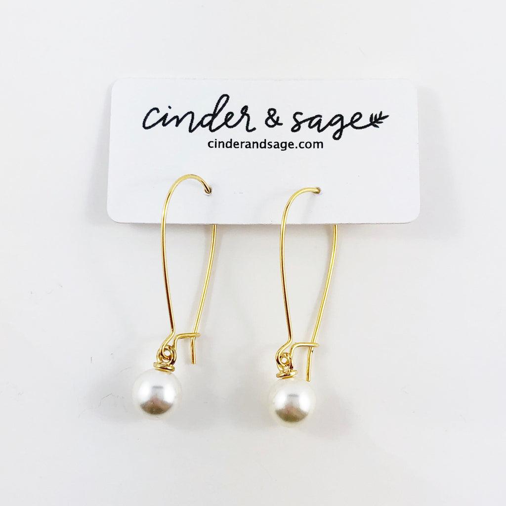 """Pearl Drop"" Earrings"