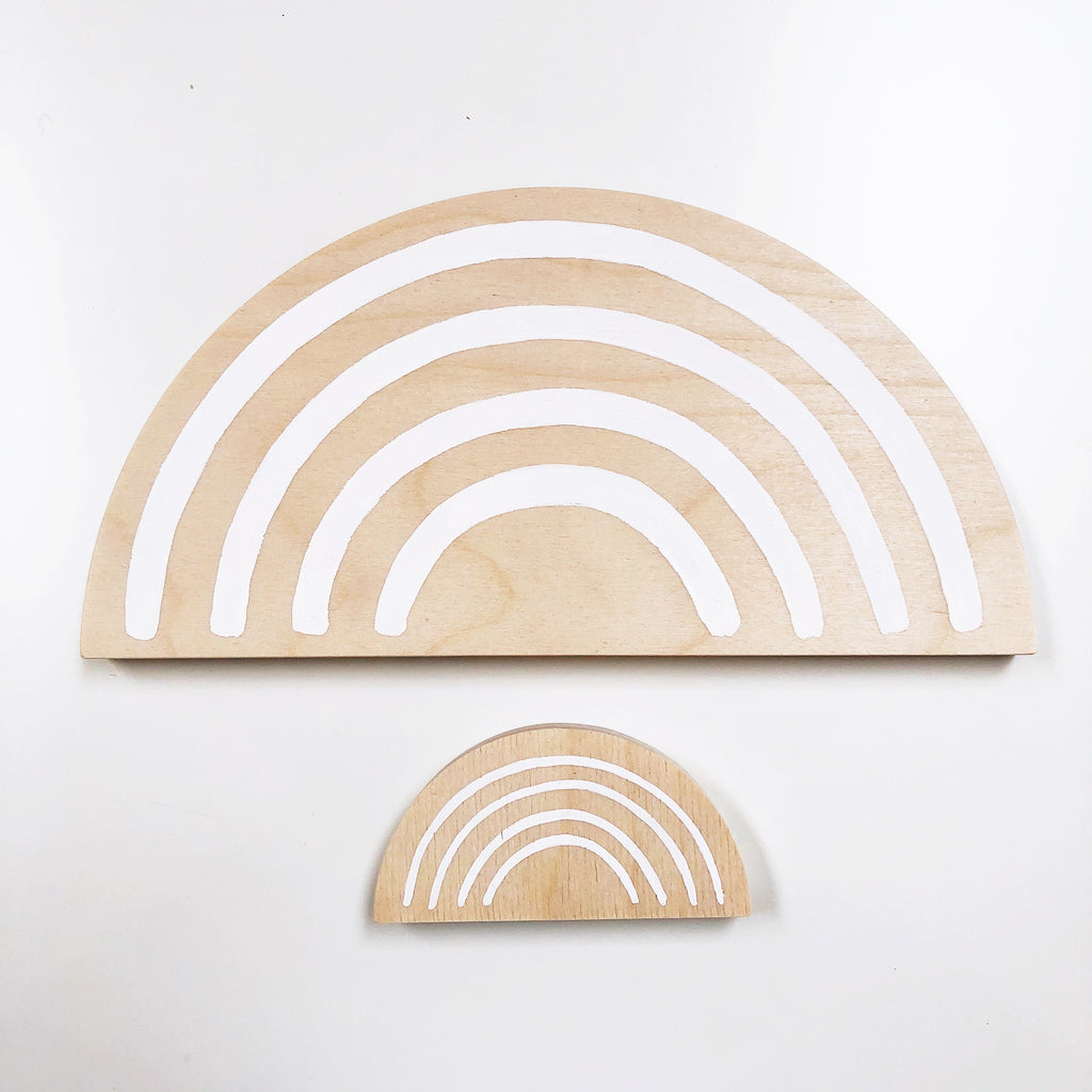 Wooden Rainbows - Large (3 colors)