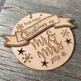 First Christmas as Mr & Mrs (2020) Ornament