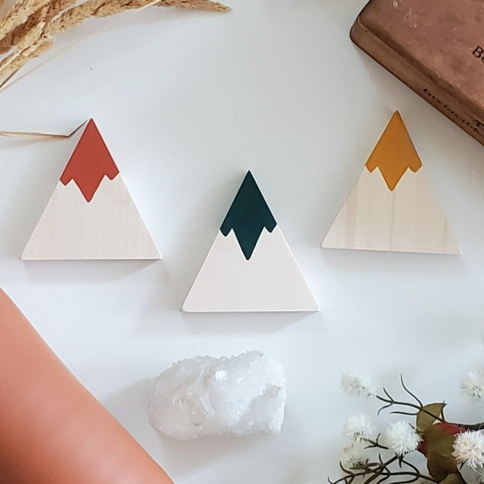 Wooden Mountain - Painted - Single Peak (5 colors)