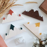 Wooden Mountain - Painted - Triple Peak (4 colors)