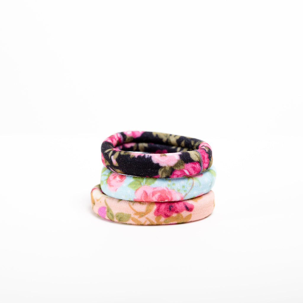"""Floral Field"" Hair Elastics Sets"