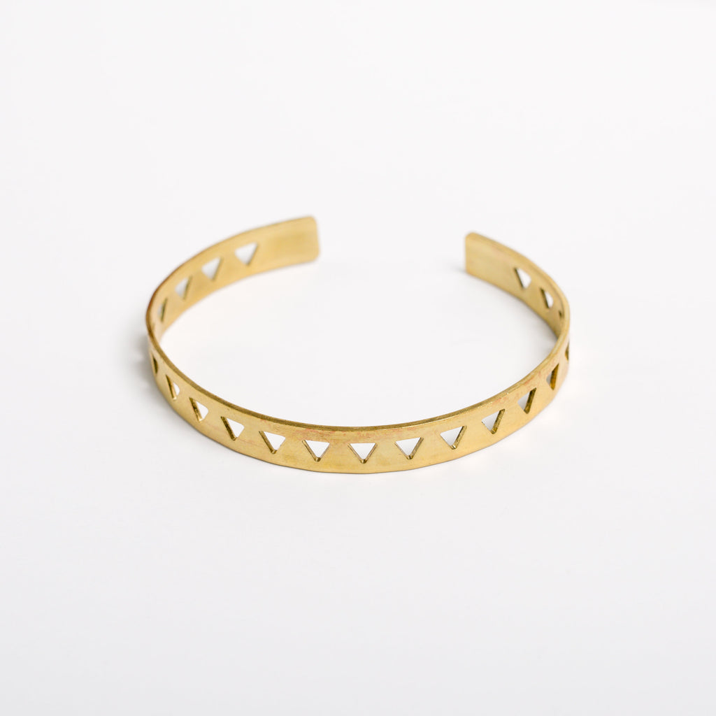 """Triangle Row"" Cuff Bracelet"