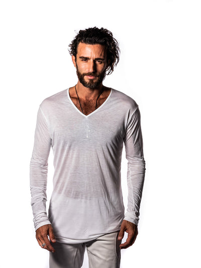 Valor - Illuminated White - V Neck Long Sleeve