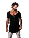 Bamboo - Black - Short Sleeve Shirt - Scoop Neck