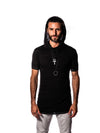 Falcon - Vintage Meteor Black - Short Sleeve Shirt with Hood