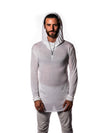Falcon - Illuminated White - Long Sleeve with Hood
