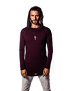 Falcon -Coeur Crimson - Long Sleeve with Hood