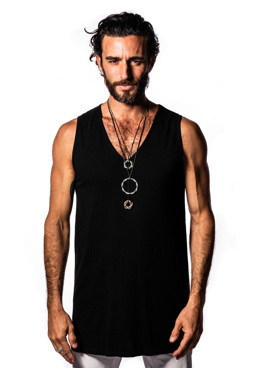 Sleeveless V-Neck Shirt - Black Magick