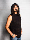 Falcon - Vintage Cosmic Black - Sleeveless with Hood