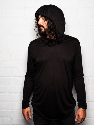 Falcon - Black Magick - Long Sleeve Shirt with Hood