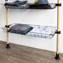 Indlæs billede til gallerivisning Walk-in Wardrobe Modular Wardrobe Wood Coat Rack