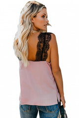 Pink - One More Night Lace Cami Tank Top