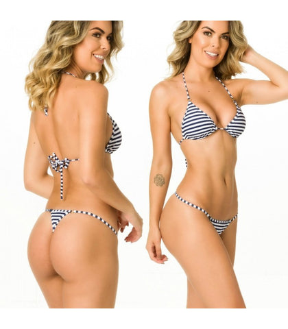 Marine - Tri Top and Thong Bottom Micro Bikini Set