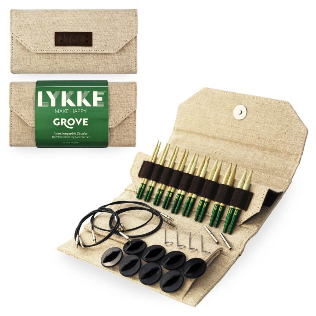 "Lykke Grove 3.5"" Interchangeable Needles Set"