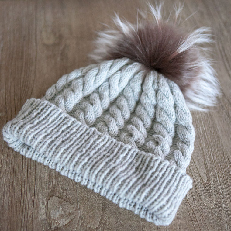 Free Pattern: Cora's Cabled Hat
