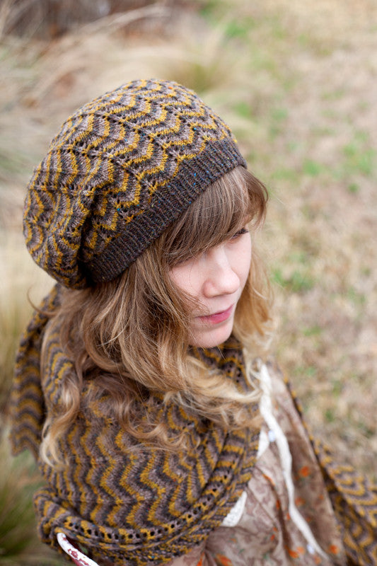 Guadalupe River Set Shawl and Hat Pattern