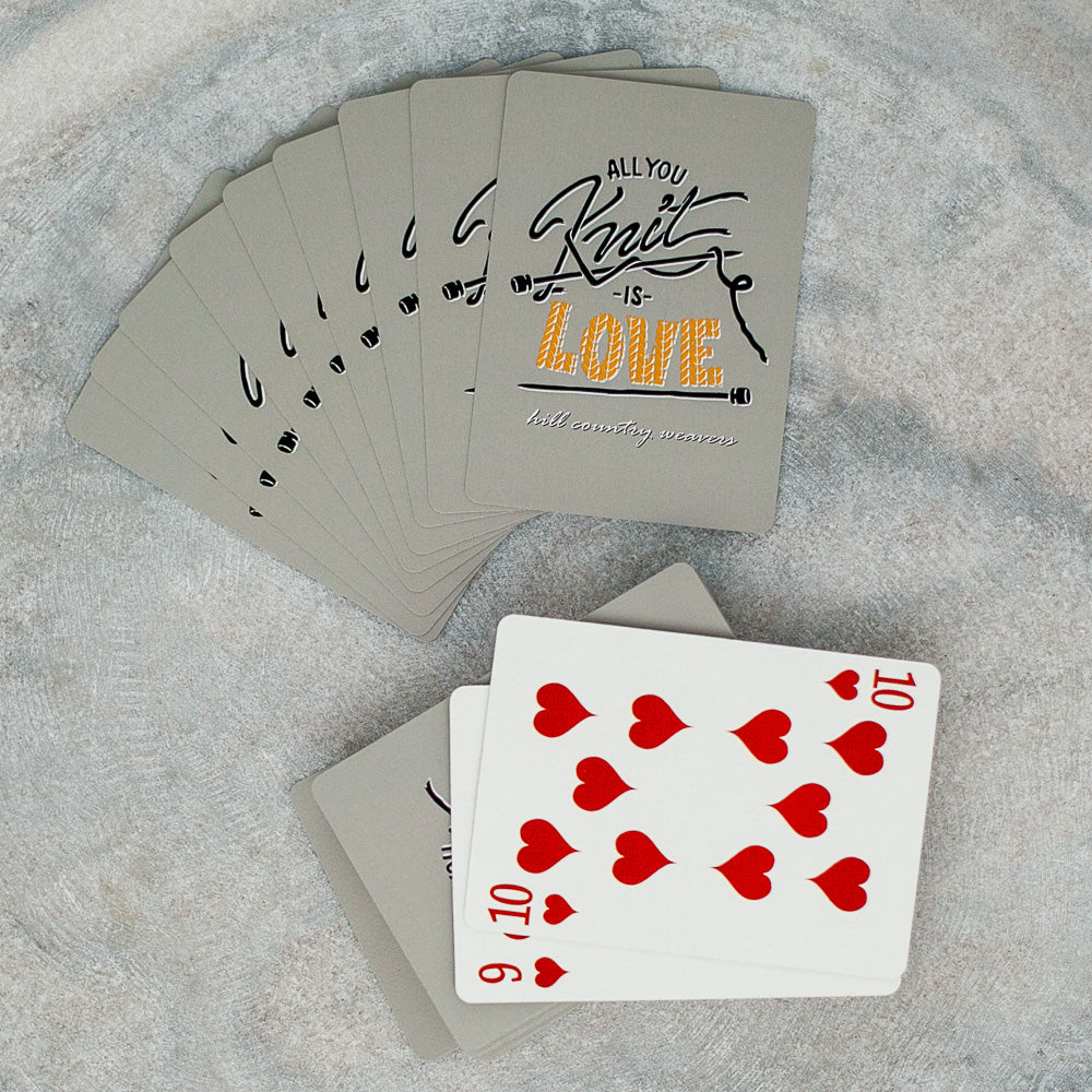 All You Knit is Love Playing Cards