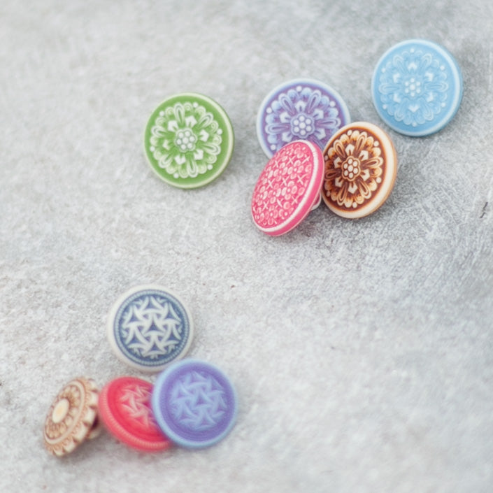 Watercolor Floral Buttons