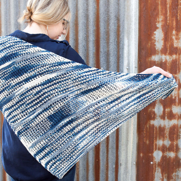 Indigo Summer Shawl Pattern