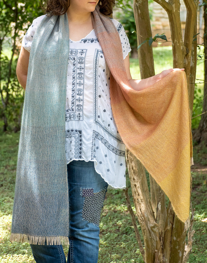 Pathways Forward Woven Shawl