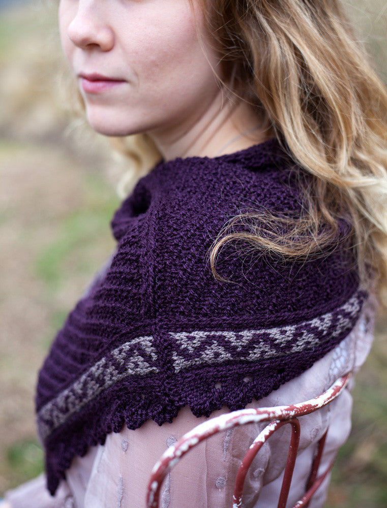 Larkspur Knit Color work Cowl Pattern